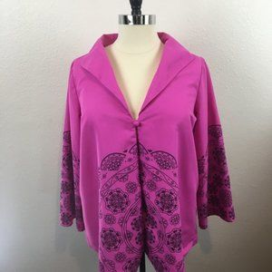 Victor Costa Occasions Pink Swing Jacket Size 1X